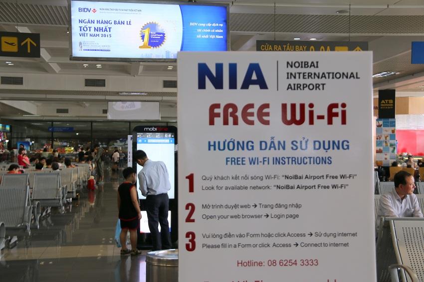 Wiffi Miễn Phí Tại Sân Bay Nội Bài